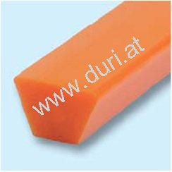 Profilriemen orange glatt